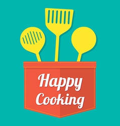 Happy cooking vector
