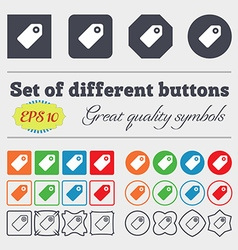 Special offer label icon sign big set of colorful vector