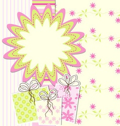 Artistic card vector