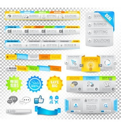 Collection of web elements - various templates vector