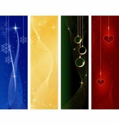 Festive christmas winter banners vector