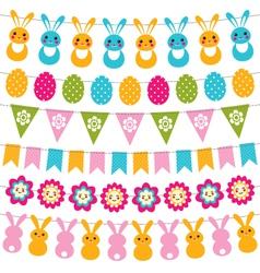 Easter garlands set vector
