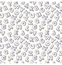 Scribble alphabet seamless pattern vector