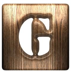 Wooden figure g vector
