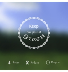 Blurred ecology background vector