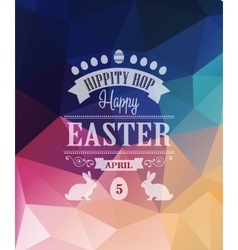 Happy easter typographical poster vector