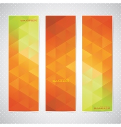 Colorful vertical set of banners mosaic vector