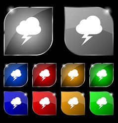 Storm icon sign set of ten colorful buttons with vector