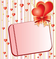 Valentins day card vector