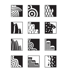 Different building surfaces vector