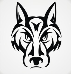 Tribal wolf face vector