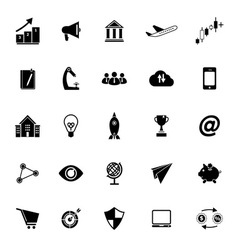 Startup business icons on white background vector