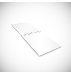 Blank spiral notebook lying isolated on white vector