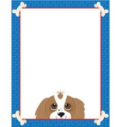 Dog bone frame vector
