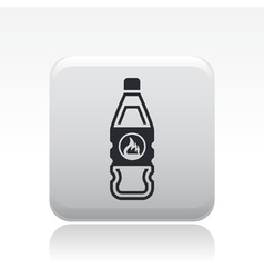Flammable bottle icon vector