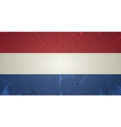 Grunge flags - netherlands vector