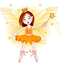Little orange fairy vector