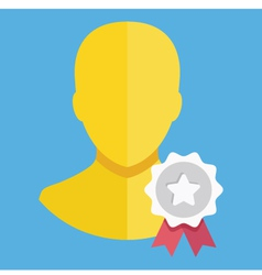 Account award icon vector