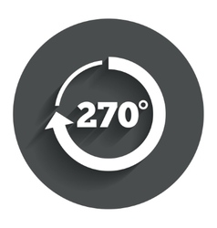 Angle 270 degrees sign icon geometry math symbol vector