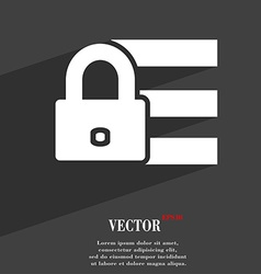 Lock login icon symbol flat modern web design with vector