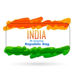 Indian 26th january republic day design vector