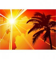 Tree and sun vector