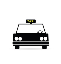 Taxi vehicle icon vector