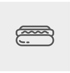 Hotdog sandwich thin line icon vector