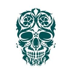 Ornamental art of a skull vector