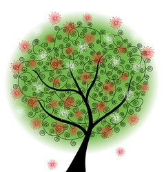 Abstract floral tree vector