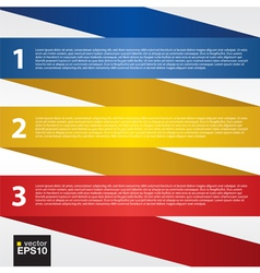 Abstract folded colorful ribbon eps10 vector