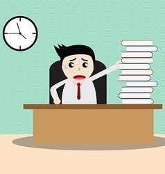 Businessman working in office vector