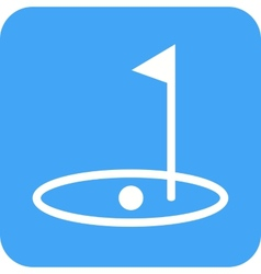 Golf post vector