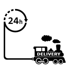 24 hour delivery symbol vector