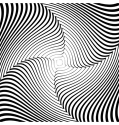 Design monochrome whirlpool movement background vector