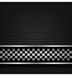 Metallic perforated sheet for race vector