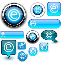 Internet blue signs vector