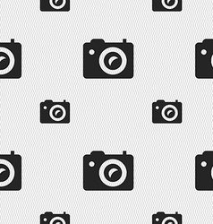 Digital photo camera icon sign seamless pattern vector