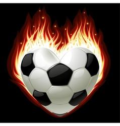 Football on fire vector