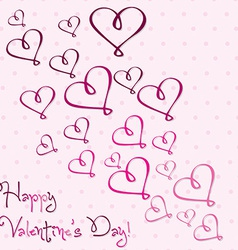 Valentines day heart card in format vector