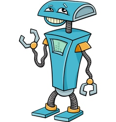 Robot cartoon character vector