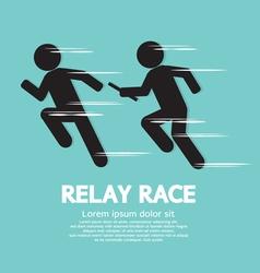 Relay race vector