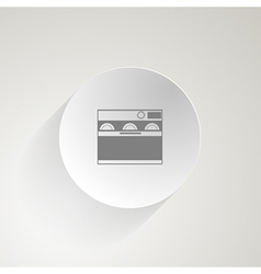 Flat icon for dishwasher vector