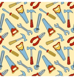 Tools seamless color pattern vector