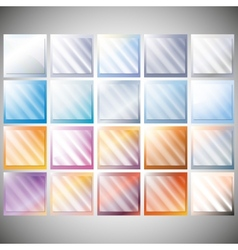Set of transparent glass on color backgrounds vector