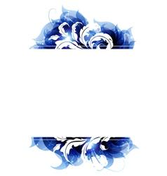 Blue petals frame vector