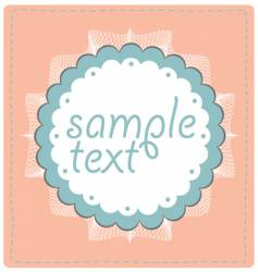 Sample text lace design vector