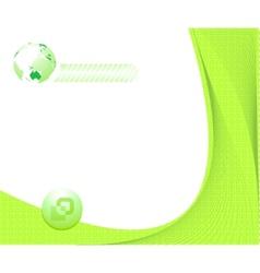 Certificate green background vector