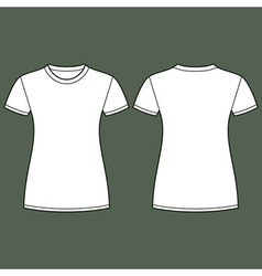 White t-shirt design template vector