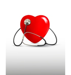 Background with a stethoscope and a heart vector